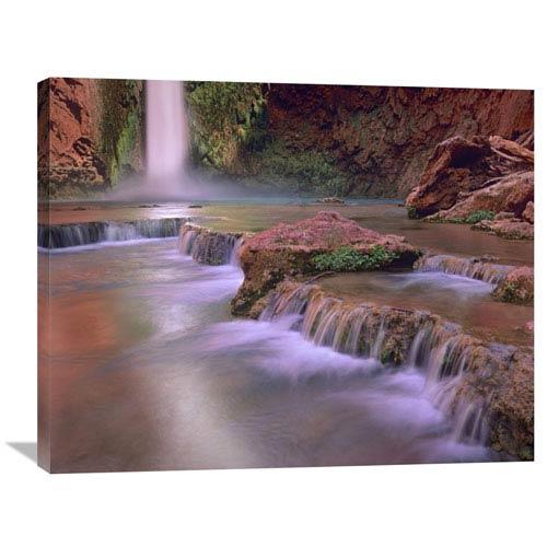 Global Gallery Mooney Falls Cascading Into Havasu Creek, Grand Canyon National Park, Arizona By Tim Fitzharris, 28 X 35-Inch