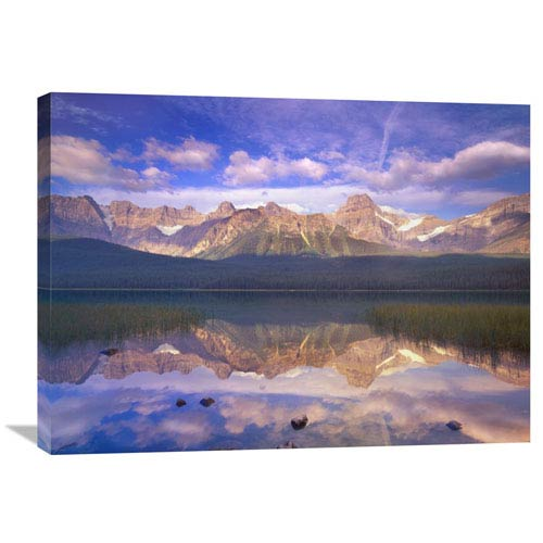Global Gallery Mount Chephren Reflected In Waterfowl Lake, Banff National Park, Alberta, Canada By Tim Fitzharris, 24 X