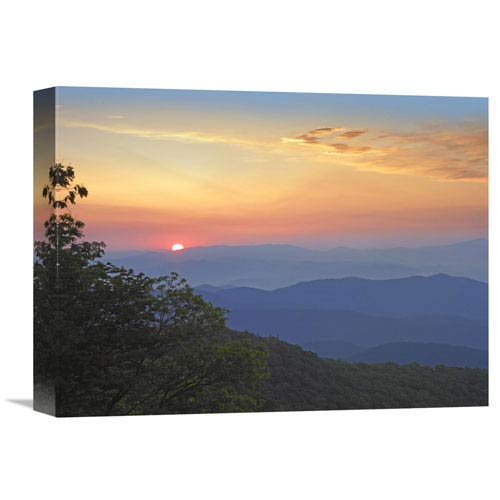 Global Gallery Sunset Over The Pisgah National Forest From The Blue Ridge Parkway, North Carolina By Tim Fitzharris, 12 X