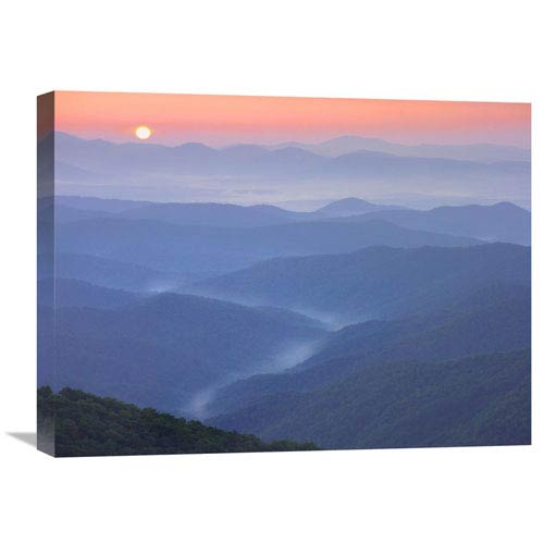 Global Gallery Sunset Over The Pisgah National Forest From The Blue Ridge Parkway, North Carolina By Tim Fitzharris, 18 X