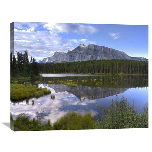 Global Gallery Mount Rundle And Boreal Forest Reflected In Johnson Lake, Banff National Park, Alberta, Canada By Tim