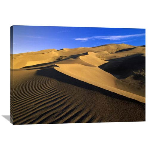 Global Gallery 750 Foot Tall Sand Dunes, Tallest In North America, Great Sand Dunes National Monument, Colorado By Tim