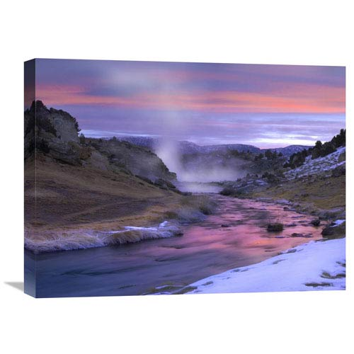 Global Gallery Hot Creek At Sunset, Natural Hot Spring In Mammoth Lakes Region, Eastern Sierra Nevada, California By Tim