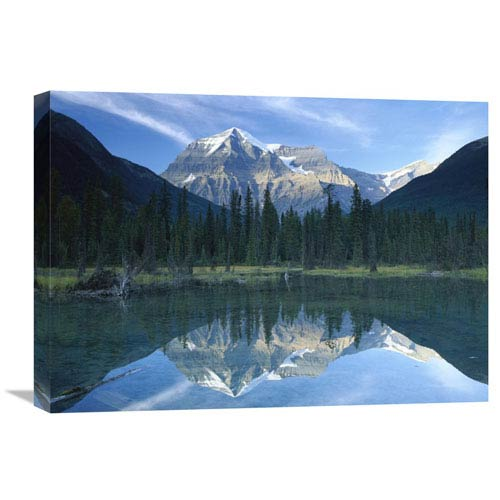 Global Gallery Mt Robson, Highest Peak In The Canadian Rocky Mountains, Reflected In Lake, British Columbia, Canada By Tim