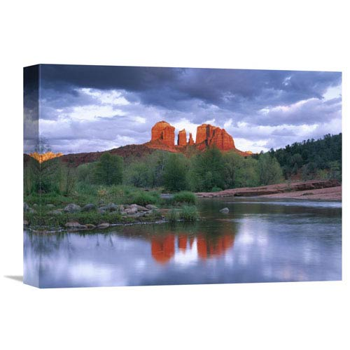 Global Gallery Cathedral Rock Reflected In Oak Creek At Red Rock Crossing, Red Rock State Park Near Sedona, Arizona By Tim