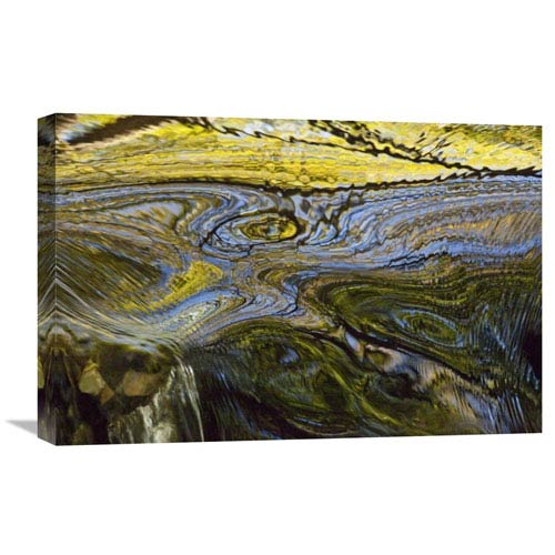Global Gallery Autumn Patterns In Small Waterfall, Canterbury, New Zealand By Colin Monteath, 16 X 24-Inch Wall Art