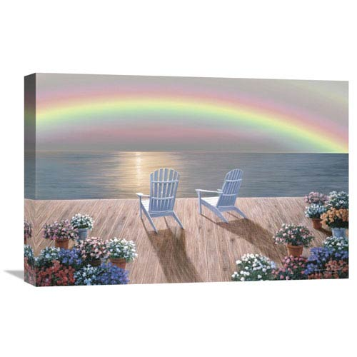 Global Gallery Rainbow Wishes By Diane Romanello, 24 X 16-Inch Wall Art