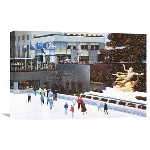 Global Gallery Rockefeller Center By Diane Romanello, 24 X 16-Inch Wall Art