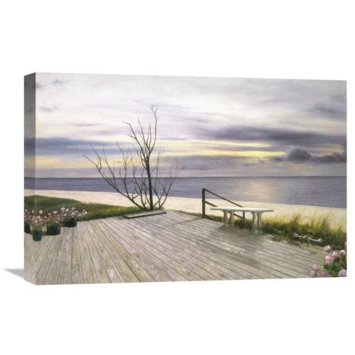 Global Gallery Sunset And Flowers By Diane Romanello, 24 X 16-Inch Wall Art