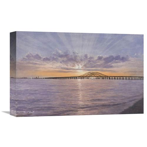 Global Gallery Sun Rays Over Captree By Diane Romanello, 18 X 12-Inch Wall Art