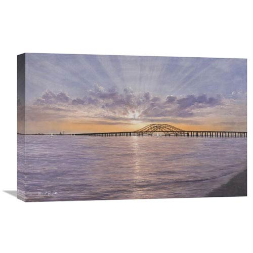 Global Gallery Sun Rays Over Captree By Diane Romanello, 24 X 16-Inch Wall Art