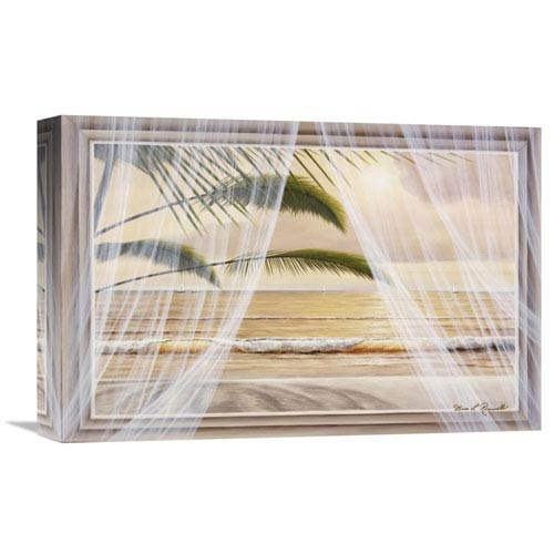 Global Gallery Surf And Palm View By Diane Romanello, 18 X 12-Inch Wall Art