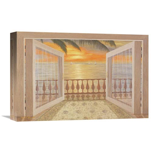 Global Gallery Perfect Sunset By Diane Romanello, 18 X 12-Inch Wall Art