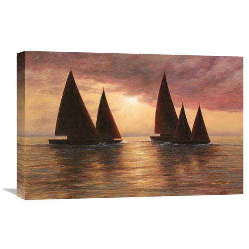 Global Gallery Dream Sails By Diane Romanello, 24 X 16-Inch Wall Art