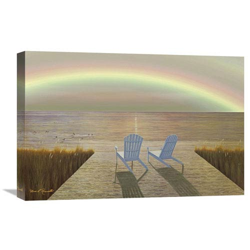 Global Gallery Over The Rainbow By Diane Romanello, 24 X 16-Inch Wall Art