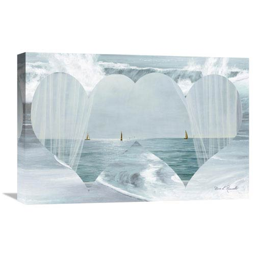Global Gallery Two Hearts As One By Diane Romanello, 24 X 16-Inch Wall Art