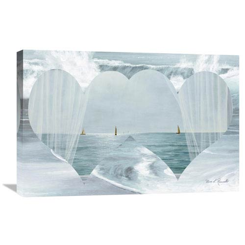 Global Gallery Two Hearts As One By Diane Romanello, 30 X 20-Inch Wall Art