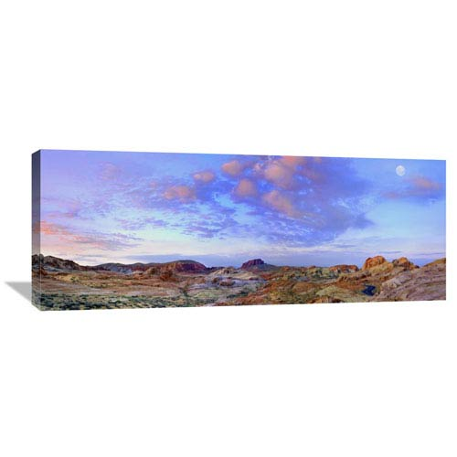 Global Gallery Moon Over Sandstone Formations, Valley Of Fire State Park, Nevada By Tim Fitzharris, 16 X 40-Inch Wall Art