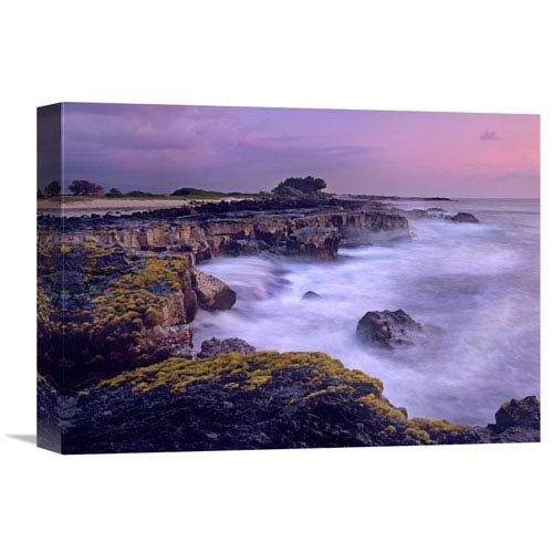 Global Gallery Ocean And Lava Rocks At Sunset, Pu Uhonua, Hawaii By Tim Fitzharris, 12 X 16-Inch Wall Art