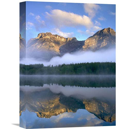 Global Gallery Morning Light On Mt Kidd As Seen From Wedge Pond, Alberta, Canada By Tim Fitzharris, 16 X 12-Inch Wall Art