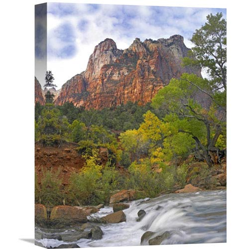 Global Gallery Court Of The Patriarchs, Zion National Park Utah By Tim Fitzharris, 16 X 12-Inch Wall Art