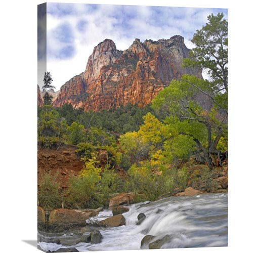 Global Gallery Court Of The Patriarchs, Zion National Park Utah By Tim Fitzharris, 24 X 18-Inch Wall Art