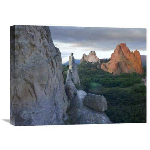 Global Gallery Gray Rock And South Gateway Rock, Garden Of The Gods, Colorado By Tim Fitzharris, 18 X 24-Inch Wall Art