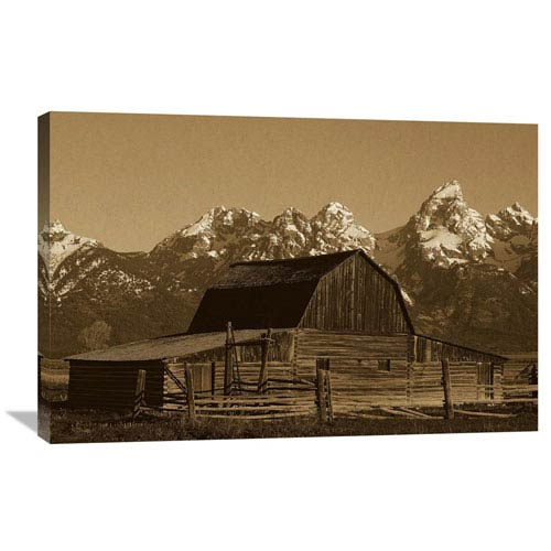 Global Gallery Cunningham Cabin In Front Of Grand Teton Range, Wyoming By Pete Oxford, 24 X 36-Inch Wall Art