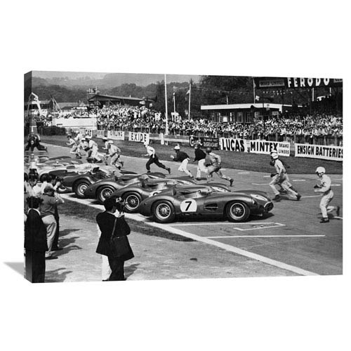 Global Gallery Drivers At The Start Of A Race, England 1958 By Anonymous, 36 X 24-Inch Wall Art