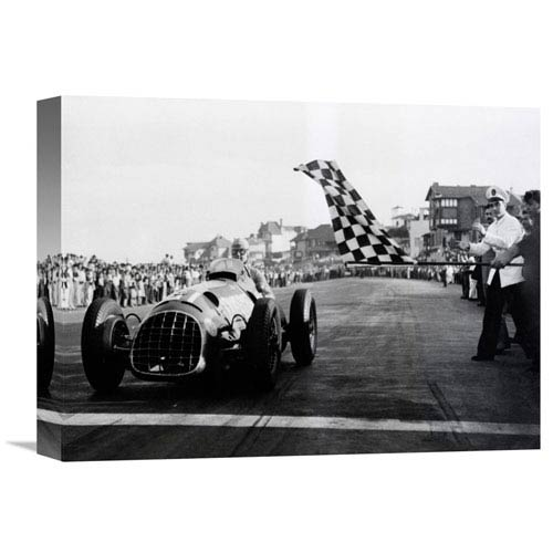 Global Gallery Checkered Flag, 1950 By Anonymous, 16 X 12-Inch Wall Art