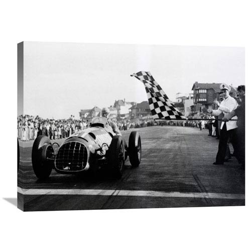 Global Gallery Checkered Flag, 1950 By Anonymous, 32 X 24-Inch Wall Art