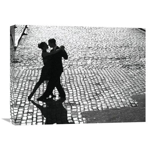 Global Gallery Dancers Performing The Tango By Anonymous, 24 X 18-Inch Wall Art