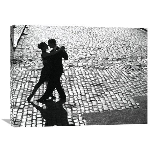 Global Gallery Dancers Performing The Tango By Anonymous, 32 X 24-Inch Wall Art
