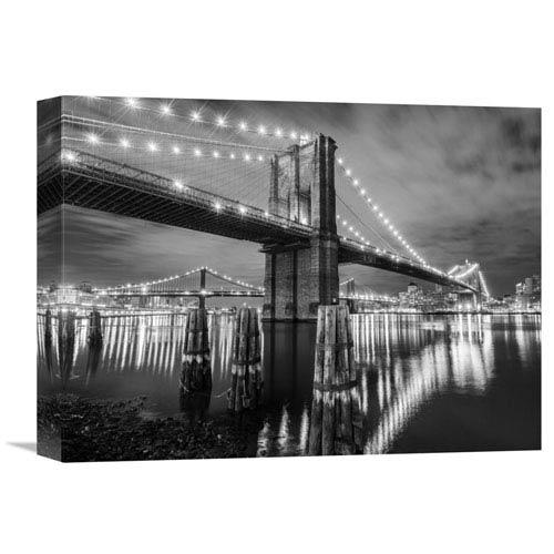 Global Gallery Brooklyn Bridge By Anonymous, 16 X 12-Inch Wall Art