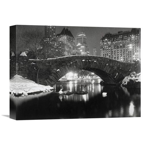 Global Gallery Bridge In Central Park, Nyc, 1957 By Anonymous, 16 X 12-Inch Wall Art