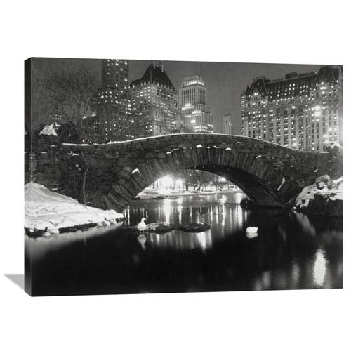 Global Gallery Bridge In Central Park, Nyc, 1957 By Anonymous, 40 X 30-Inch Wall Art