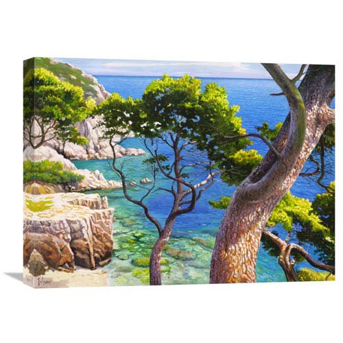 Global Gallery Lavandou By Adriano Galasso, 24 X 18-Inch Wall Art