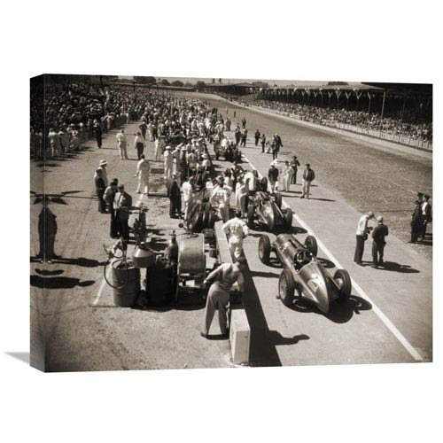 Global Gallery Pit Stop At The Indianapolis 500, 1948 By Anonymous, 24 X 18-Inch Wall Art