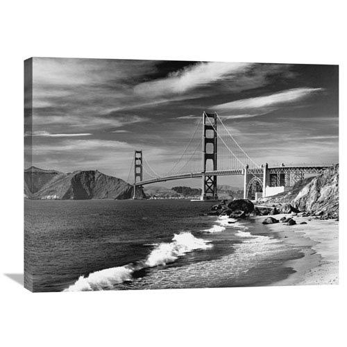 Global Gallery Golden Gate Bridge Spanning San Francisco Bay By David Muench, 32 X 24-Inch Wall Art