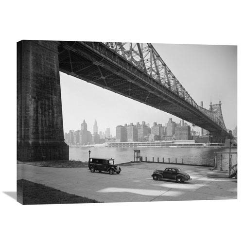 Global Gallery Queensboro Bridge Across The East River, Nyc By G.E. Kidder Smith, 32 X 24-Inch Wall Art