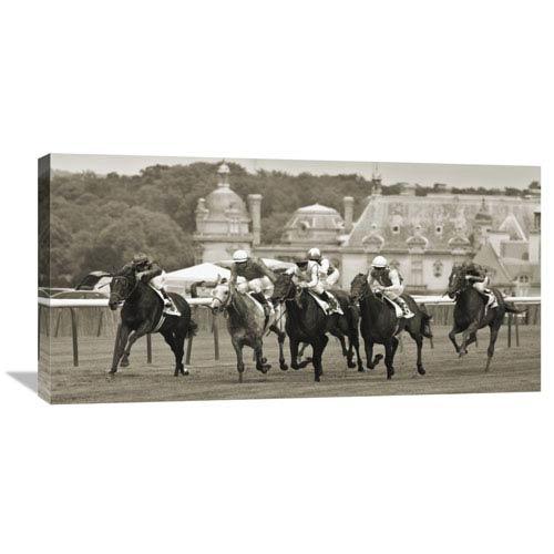 Global Gallery Prix De Diane Prestigious Horse Race In Chantilly By Peet Simard, 36 X 18-Inch Wall Art