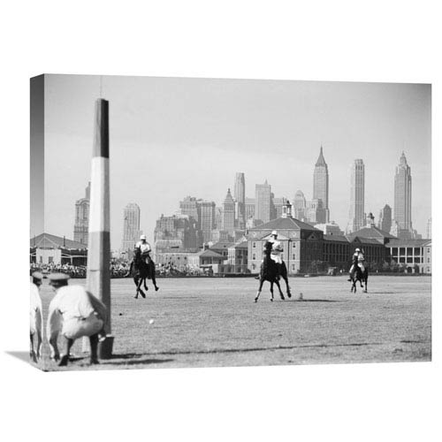 Global Gallery Polo Game On Governors Island, Nyc By Philip Gendreau, 24 X 18-Inch Wall Art
