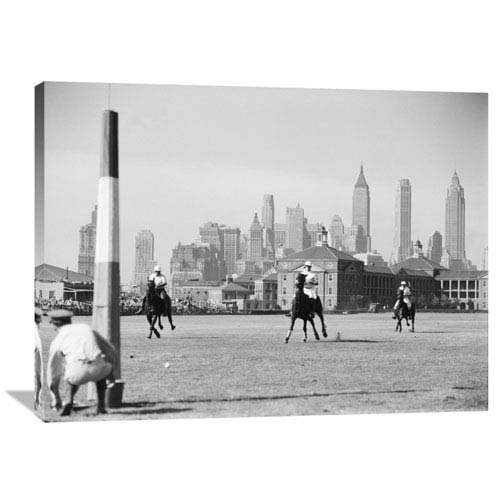 Global Gallery Polo Game On Governors Island, Nyc By Philip Gendreau, 40 X 30-Inch Wall Art