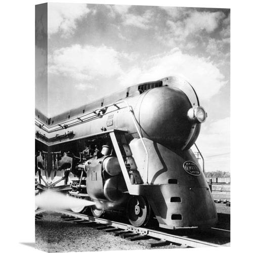 Global Gallery New York Central Streamlined Locomotive, 1940S By Philip Gendreau, 12 X 16-Inch Wall Art