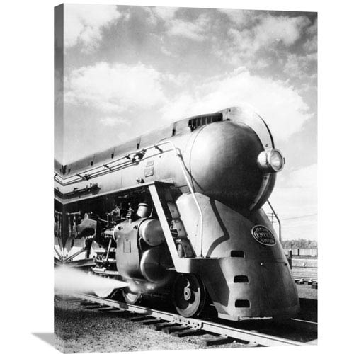Global Gallery New York Central Streamlined Locomotive, 1940S By Philip Gendreau, 24 X 32-Inch Wall Art