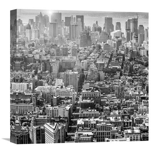 Global Gallery Aerial View Of Manhattan, Nyc By Walter Zerla, 18 X 18-Inch Wall Art