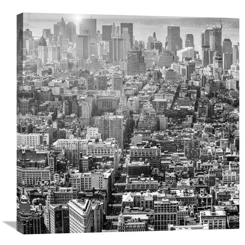 Global Gallery Aerial View Of Manhattan, Nyc By Walter Zerla, 30 X 30-Inch Wall Art