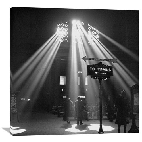 Global Gallery Sunbeams In Chicagos Union Station, 1943 By Jack Delano, 36 X 36-Inch Wall Art