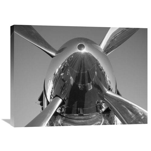 Global Gallery Spinner On A P 51 Mustang By Jim Sugar, 32 X 24-Inch Wall Art