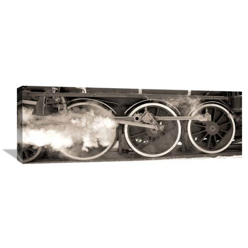Global Gallery Vintage Steam Train By Tim Clayton, 36 X 12-Inch Wall Art